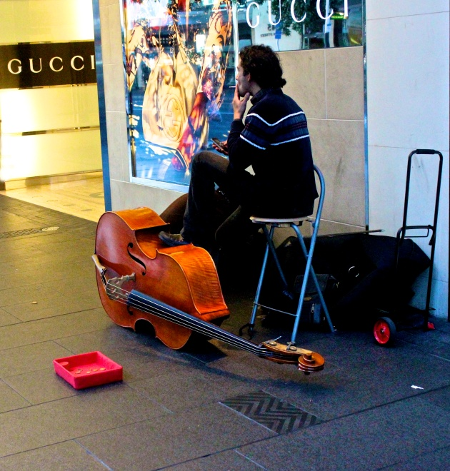 Lonely busker